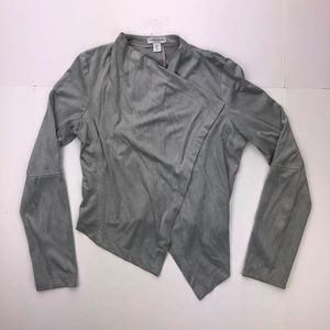 Katherine Barclay Montreal S Gray Wrap Up Blouse
